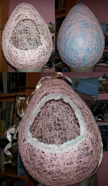 Making Yarn Easter Eggs
