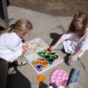 Dye Easter Eggs Outside