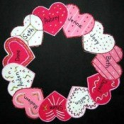 Heart Wreath Door Decoration