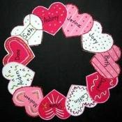 Heart Wreath Door Decoration