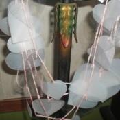 Plastic heart garland.