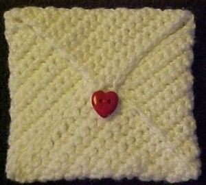 Crocheted Valentine Envelope