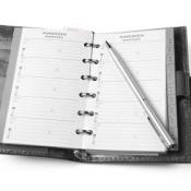Address Book on White Background