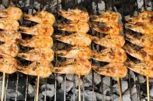 Shrimp Grilling in BBQ