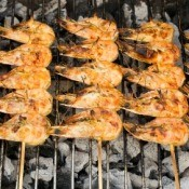 Shrimp Grilling in BBQ