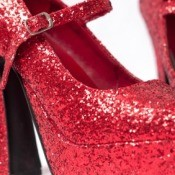 Red Glitter Shoes