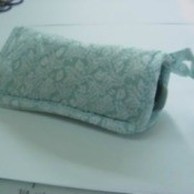 Eyeglass Cozy Case made with a potholder.