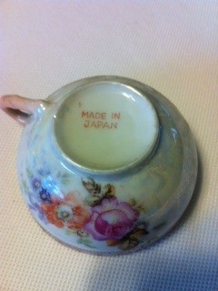 Bottom view of tea cup.