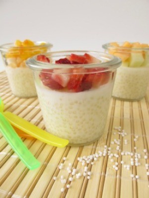 Tapioca Pudding with Fruit.