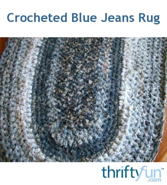 Crocheted Blue Jeans Rug | ThriftyFun