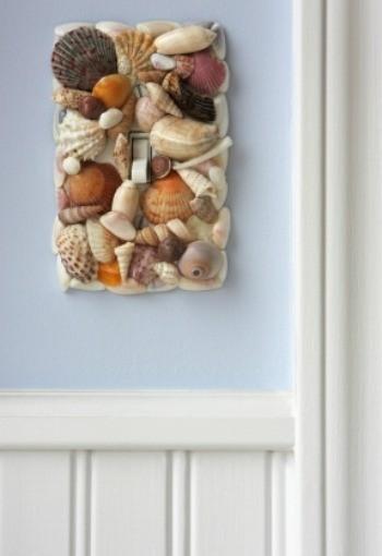 sea shell switch plate