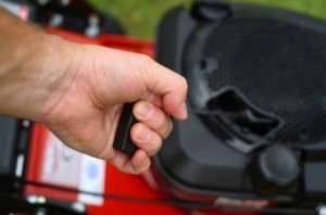 Starting a Lawnmower