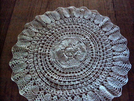 Pineapple lace doily.