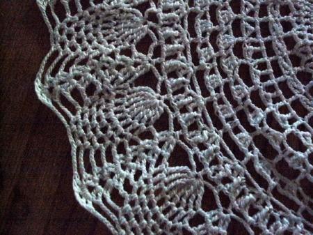 Closeup of pineapple doily
