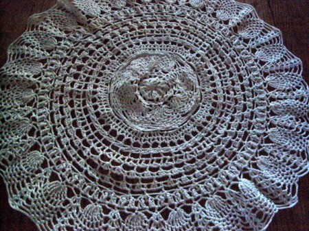 Zoomed out view of doily.