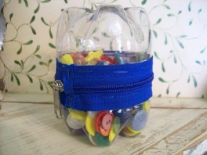Zipper Plastic Bottle Container