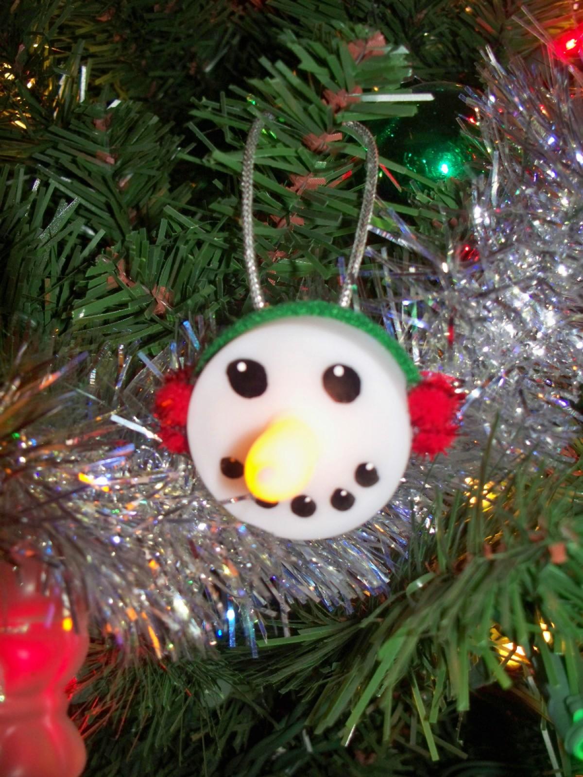 Tea Light Snowman Ornament | ThriftyFun