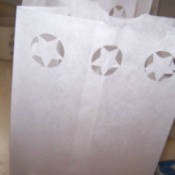 Decorated Paper Lunch Bags