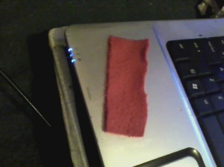 Piece of pink fleece.