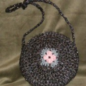 Crocheted Bags Out Of VHS Tapes