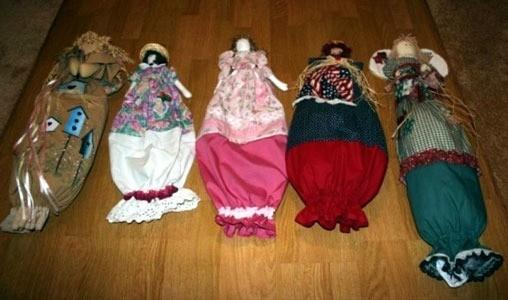 Several finished dolls.