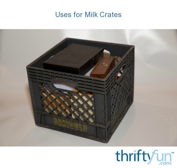 Uses for milk crates thriftyfun for What to do with milk crates