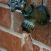 Frozen faucet.
