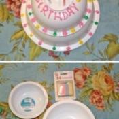 Faux Birthday Cake
