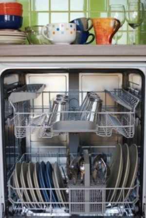 dishwasher full of dishes