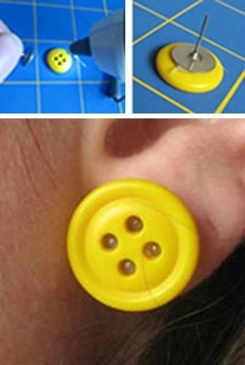Making Button Earrings