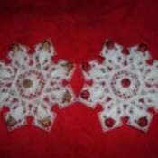 Plastic Canvas Snowflakes