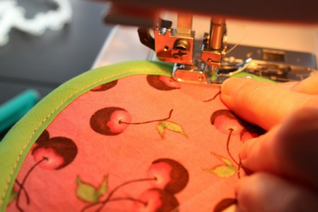 sewing on bias tape