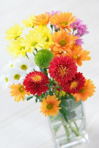 Sympathy Gift Ideas: Flowers in a Glass Vase
