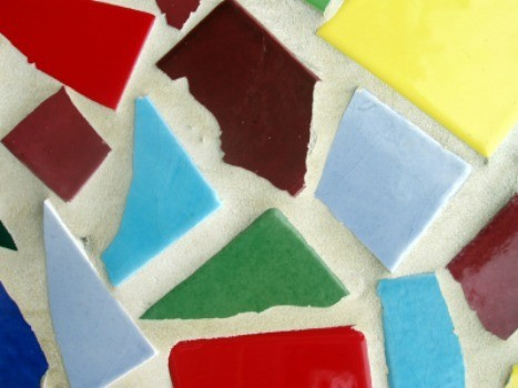 Making Mosaics From Recycled Materials