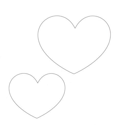 Heart template..