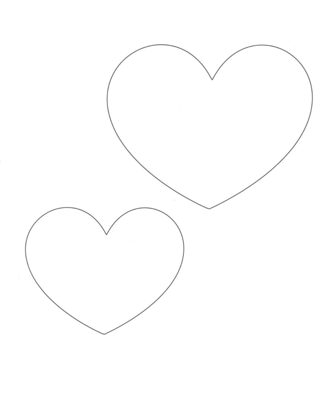 Heart Template Fold 8 1 2 X 11 Inch White Cardstock In Half