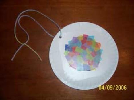 Paper Plate Suncatchers