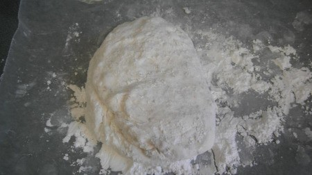 Marshmallow and confectioner's sugar mixture.