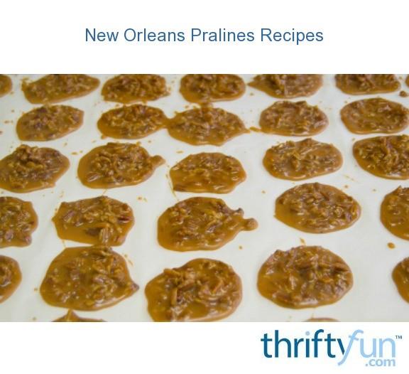 New Orleans Pralines Recipes Thriftyfun
