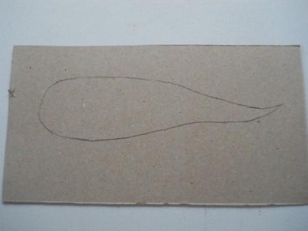 Carrot root template before adding seam allowances.