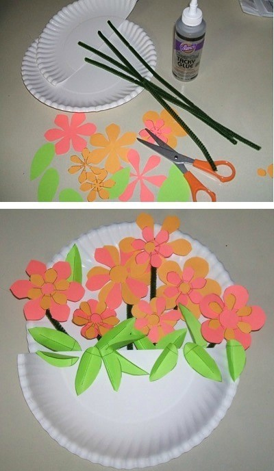 Paper Plate Flower Basket & Making Paper Plate Flower Baskets | ThriftyFun