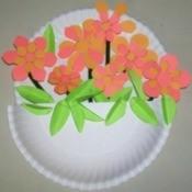 Paper Plate Flower Basket