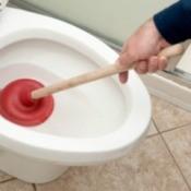 Unclogging a Toilet