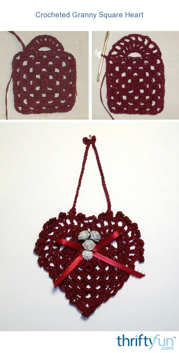 Crocheted Granny Square Heart Thriftyfun