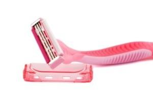 A pink razor.