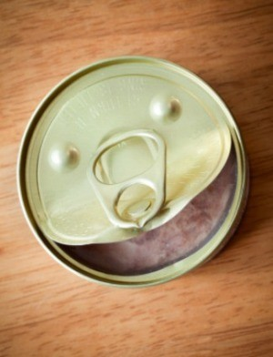 Open can of tuna.