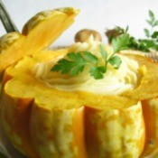 Cooked squash.
