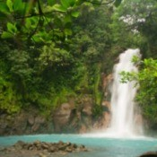 Celestial Blue waterfall in Costa Rica.