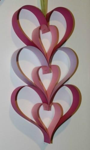 Paper Heart Door Hanger