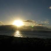Flash Of Green At Sunset (Maui)